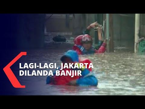 Diguyur Hujan Deras, Jakarta Lagi-Lagi Dilanda Banjir