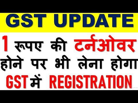GST UPDATE|GST REGISTRATION WITHOUT ANY TURNOVER LIMIT|COMPULSORY REGISTRATION IN GST SECTION 24