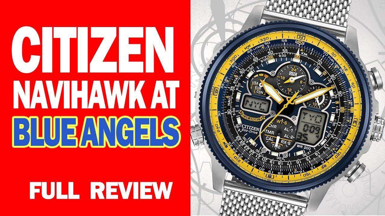 52602e38941f6 Citizen Navihawk AT Blue Angels Edition - JY8031-56L - Full Review - I  Review Crap!