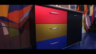 Mendekor furniture dengan kombinasi Chrome, Mirror Chrome dan Carbon 3D