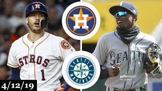 Houston Astros vs Seattle Mariners Highlights | April 12, 2019