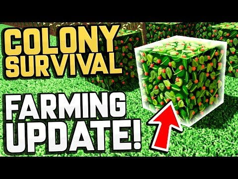 Colony Survival - FARMING UPDATE! Berry & Flax Farming! - Colony Survival Sandbox Gameplay