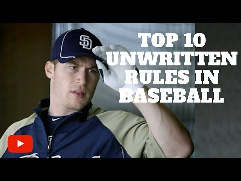 Top 10 Unwritten Rules in Baseball