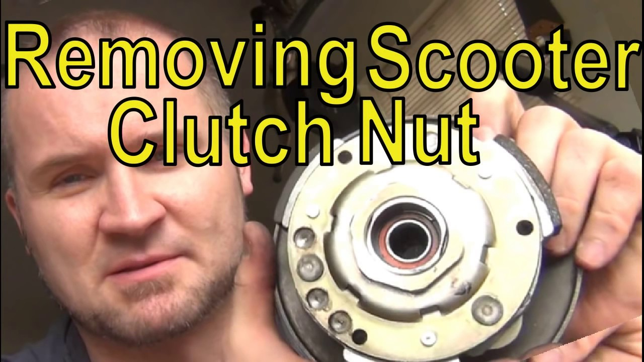 EASY Scooter Clutch Nut Removal - YouTube