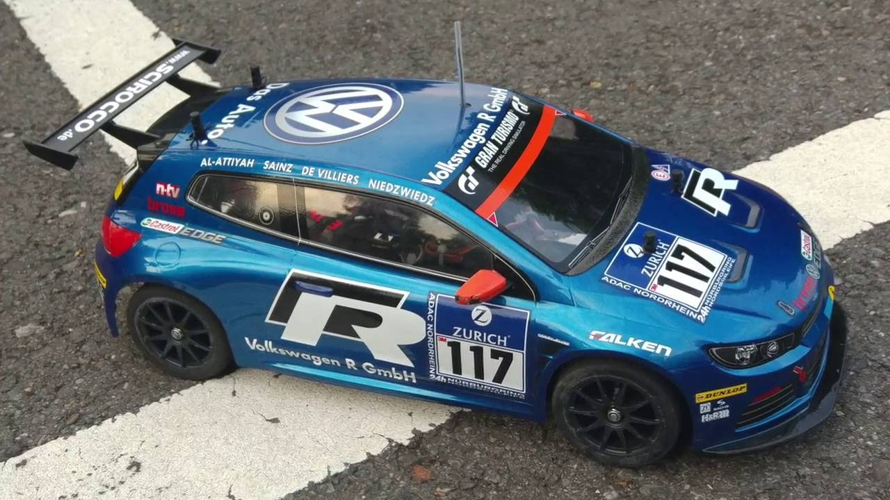 Rc Car Vw Scirocco Gt 24 Cng 1 10 Tt 01 Type E Chassis Youtube