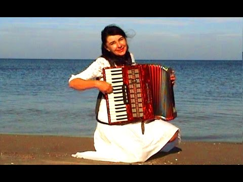 WIESŁAWA DUDKOWIAK   with Accordion on Beach 1 , The most be