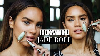 HOW TO USE A JADE ROLLER! JADE ROLL TUTORIAL! | DACEY CASH