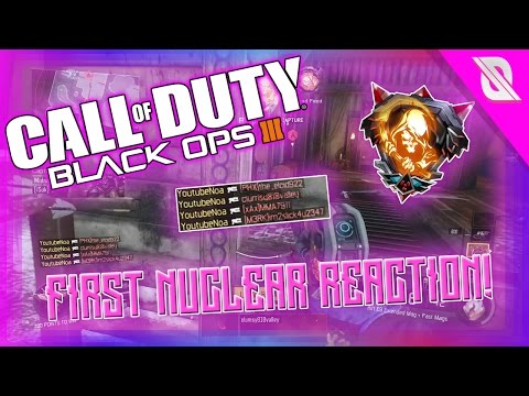 CRAZY FIRST NUCLEAR REACTION! (BO3 Pistol Only Nuclear Reaction!)