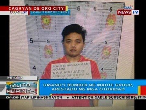 Umano'y bomber ng Maute group, arestado ng mga otoridad