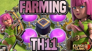 HOW TO FARM TH11 | MASS ARCHER and HERO FARMING | Clash of Clans