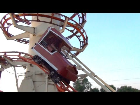 Insane Toboggan Roller Coaster POV Little Amerricka Wisconsin