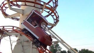 Toboggan - Insane Toboggan Roller Coaster POV Little Amerricka Wisconsin