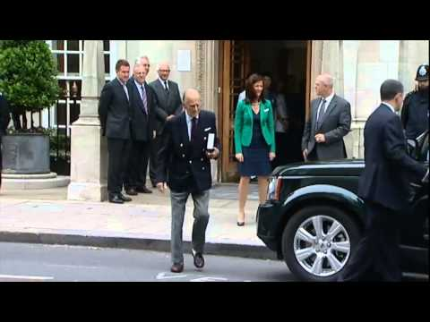 Prince Philip, Duke of Edinburgh, leaves hospital