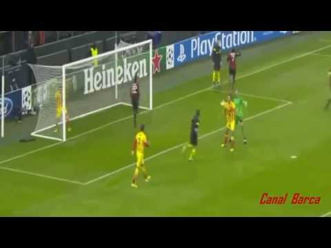 Milan Vs Barcelona (1-1) All goals Robinho & Messi