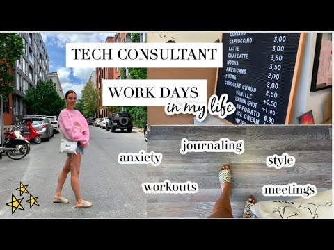 WORK DAYS IN MY LIFE AS A CONSULTANT | Anxiety, Reading from my Journal, & Outfit Styling!