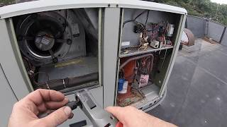 Blower Motor and Contactor Replacement Trane RTU