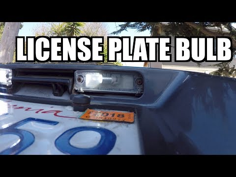 How To Install Replace (LED) LICENCE PLATE Bulbs