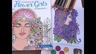 coloring in my flower girls coloring book