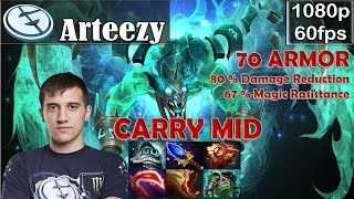 Arteezy (EG) - Visage Carry MID with 70 Armor | Dota 2 Pro MMR Gameplay
