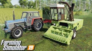 Trawa na kiszonkę i ugniatanie pryzmy - Farming Simulator 19 | #10