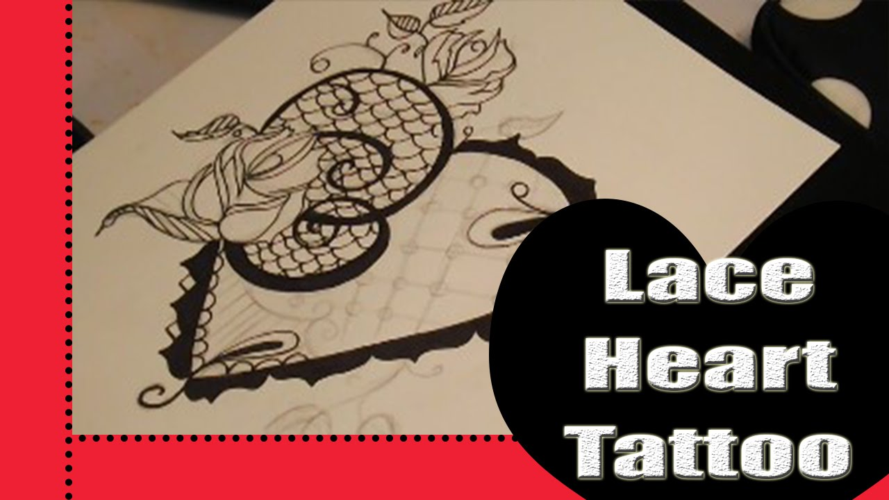 tattoo heart Black lace