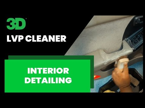 Using LVP cleaner for an interior detail