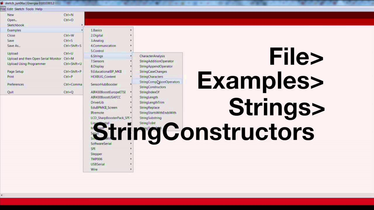 String Constructors