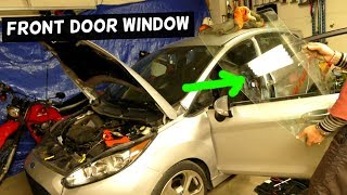 HOW TO REMOVE AND REPLACE FRONT DOOR WINDOW ON FORD FIESTA MK7 ST SE S