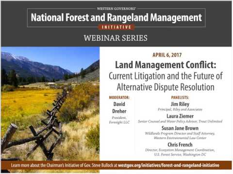 Chairman' Initiative Webinar: Land Management Conflict