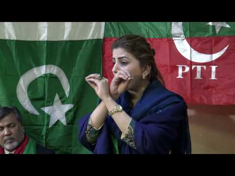 Naz Baloch addressing in Chicago