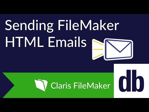 Sending FileMaker HTML Emails