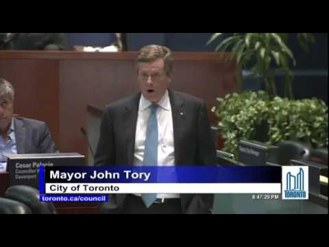 John Tory Disrespects Rob Ford As He Claims To Honor Him