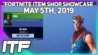 Fortnite Item Shop *NEW* COLE SKIN! [May 5th, 2019] (Fortnite Battle Royale)
