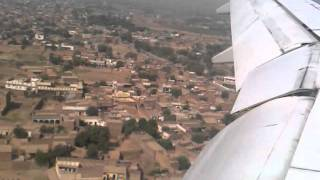 Emirates B777-200 landing in Peshawar International Airport, PEW, Pakistan