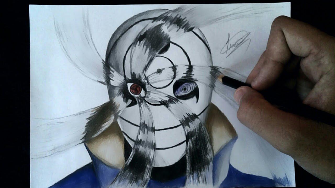 speed drawing obito uchiha war mask