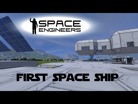 Space Engineers Planet Survival Ep 22 - Building My First SPACE Ship