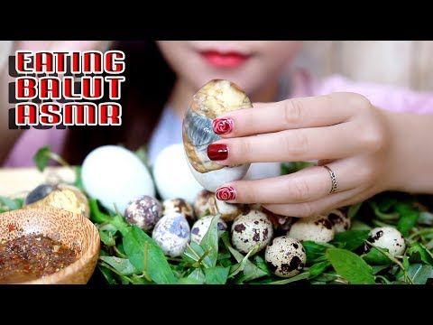 ASMR Balut (Duck Embryo and quail Embryo) EXOTIC FOOD EATING SOUNDS | LINH-ASMR