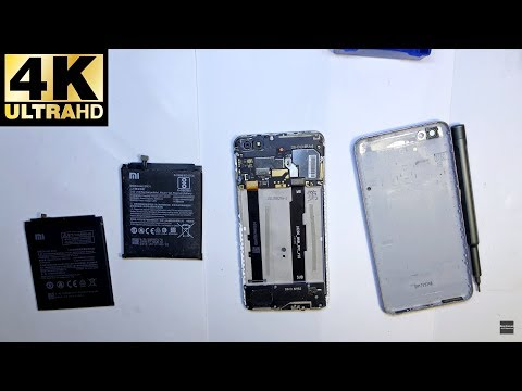 Xiaomi Redmi Note 5A - замена батареи, аккумулятора / Battery Replacement