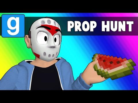 Gmod Prop Hunt Funny Moments - Rude Minecraft Snowman (Garry's Mod)