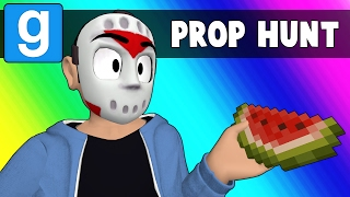 Gmod Prop Hunt Funny Moments - Rude Minecraft Snowman (Garry's Mod)