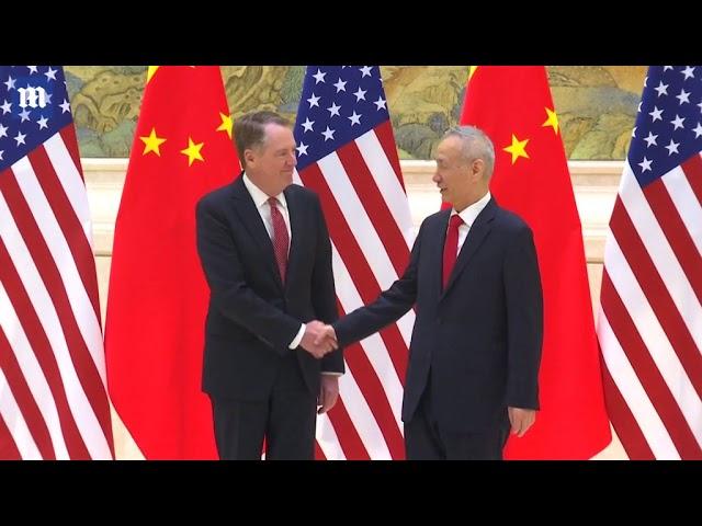 Treasury Secretary Mnuchin meets with Chinese trade reps in Beijing