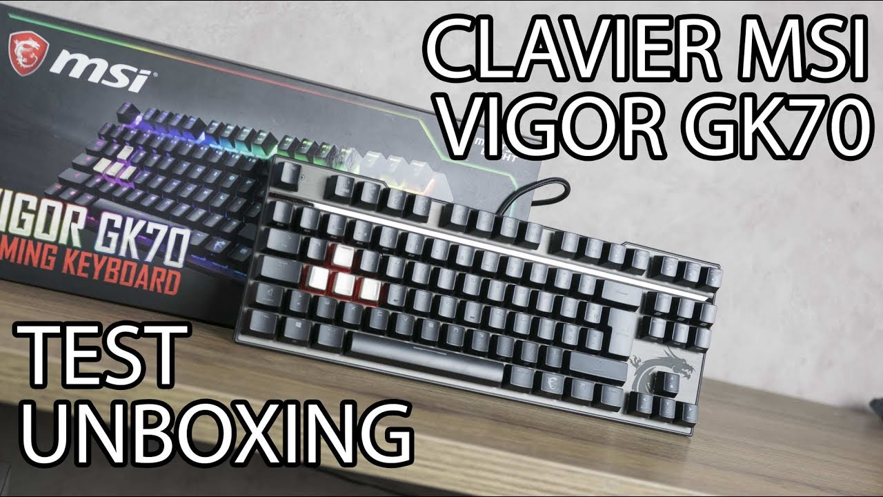 0c430a3ae3586 MSI VIGOR GK70 RED ! UN EXCELLENT CLAVIER COMPACT   - YouTube