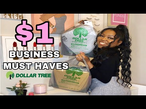 🌲 DOLLAR TREE BUSINESS MUST HAVES! $1 BUSINESS SUPPLIES | DOLLAR TREE HAUL | ENTREPRENEUR LIFE