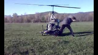 Самодельный вертолет!(Нашел старое видео самодельного вертолета. Вертолет собран из движка мотоцикла ИЖ Планета-спорт, поднимает..., 2016-08-19T15:26:17.000Z)