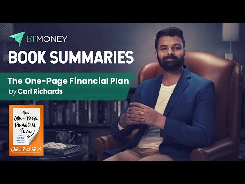 The One Page Financial Plan by Carl Richards   Book Summary by ETMONEY (with Hindi Subtitles)