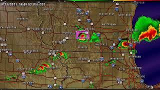 Radar Wisconsin Severe Storms and Tornado Warnings 8/11/2021
