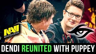 Dendi REUNITED with his Best Teammate Puppey! Best Moments of Dendi & Puppey back at Na`Vi - Dota 2