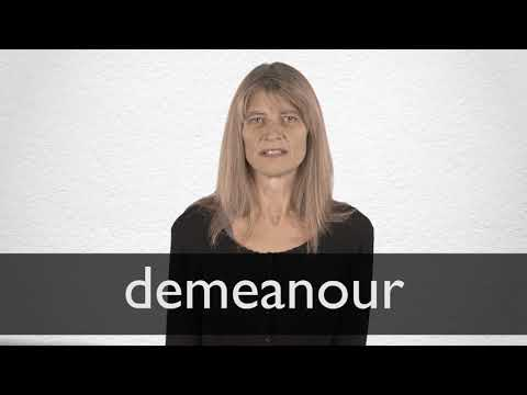 How to pronounce DEMEANOUR in British English