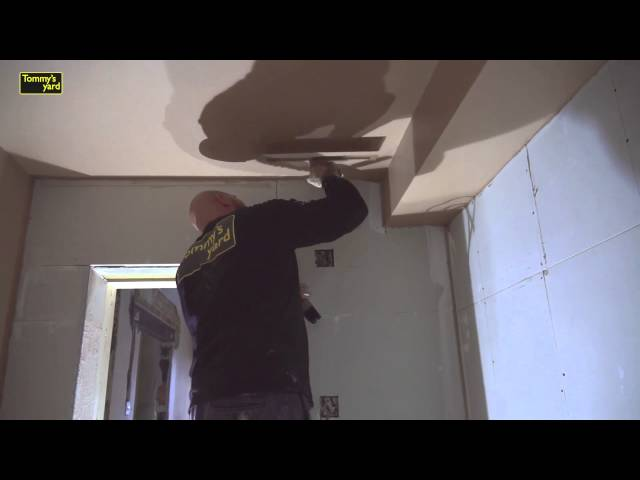 How to plaster a ceiling and wall Part 3