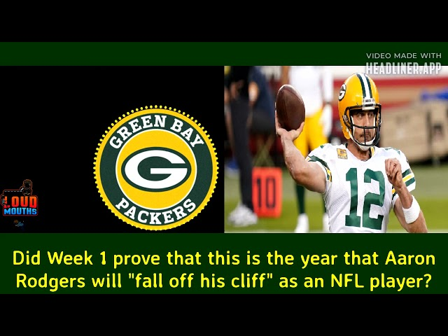 Aaron Rodgers falling off a cliff?